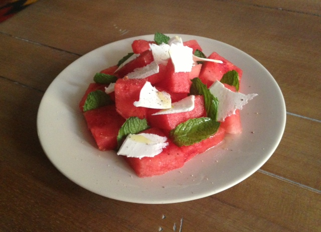 Watermelon & Mint Salad with Ricotta Salata