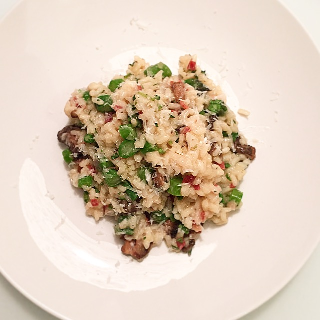 Summer Risotto with Morels, Asparagus & Fresh Oregano